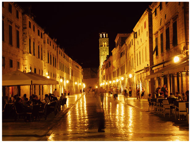 Old Town Dubrovnik's Stradun at Night