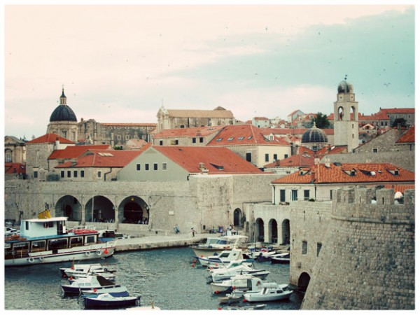 Dubrovnik from outside the fortress