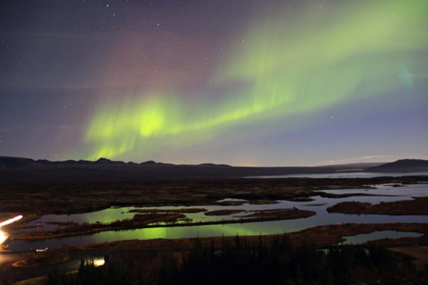 northern lights thingvellir iceland