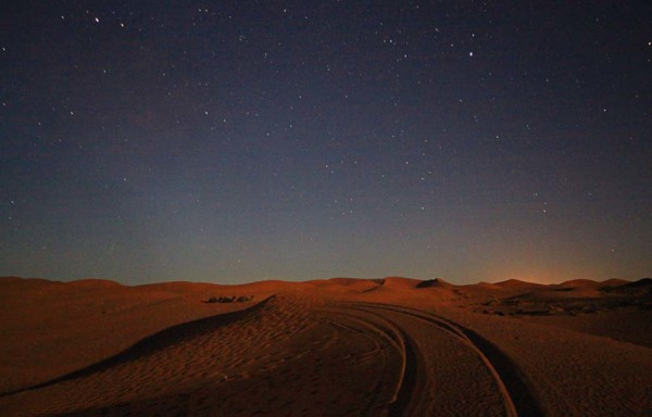 sahara desert morocco at night