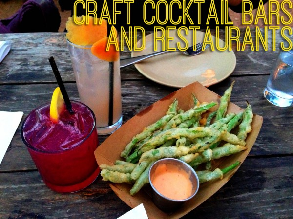craft cocktail bars and restaurants