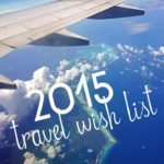 2015 Travel Wish List